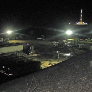 Featured Image - View of fracking operation during the night.