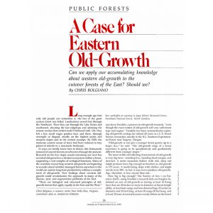 Featured: A Case of Eastern Old-Growth - Full Page