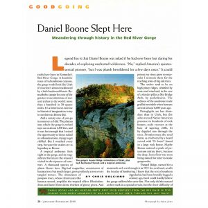 Featured: Daniel Boone Slept Here - Full Page
