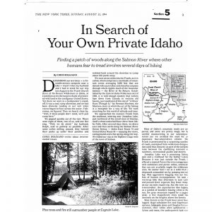 Featured: In Search of Your Own Private Idaho - Full Page
